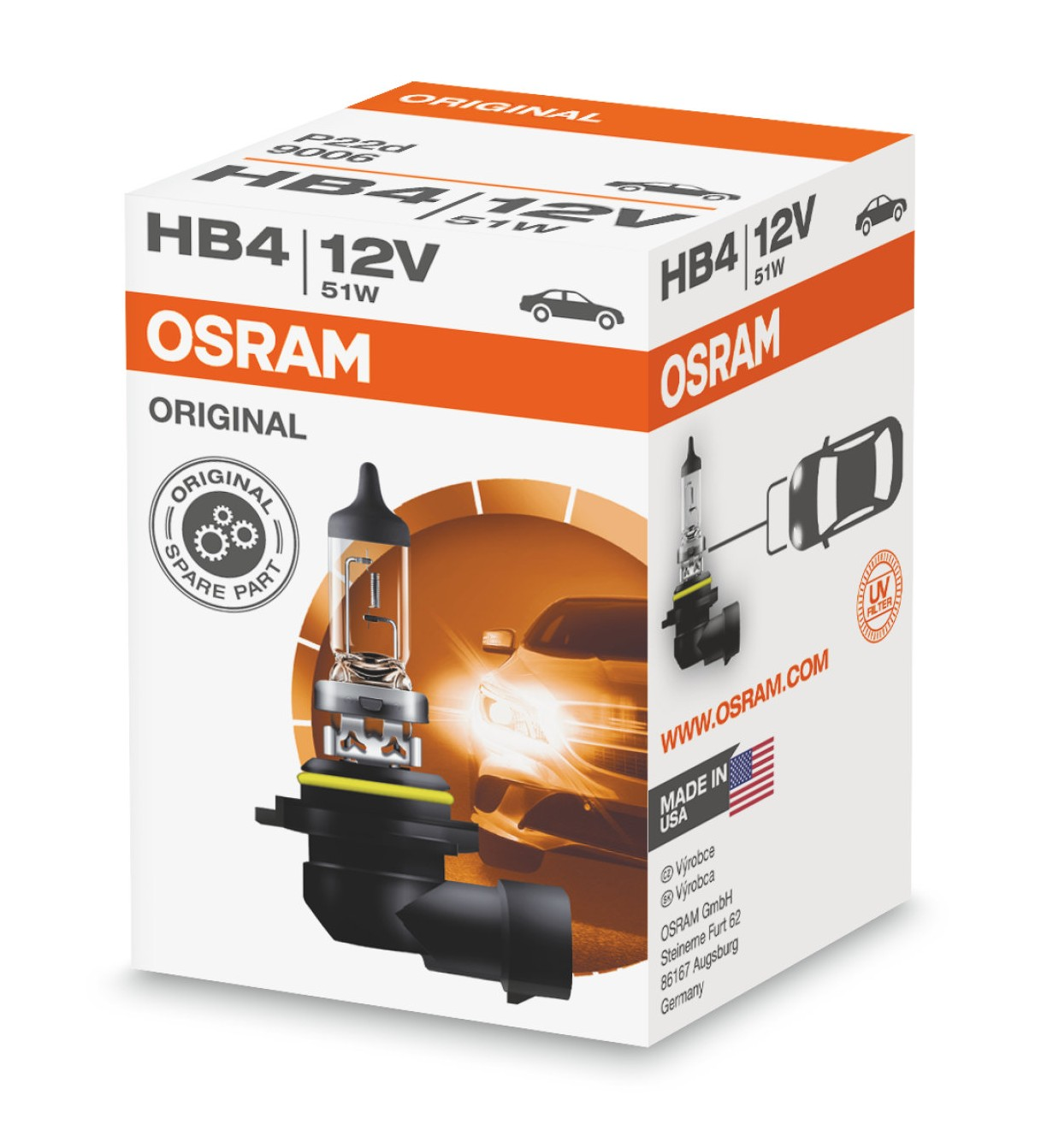 Halogenlampa HB4 51W